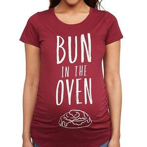 Motherhood Maternity blouse Bun In The Oven